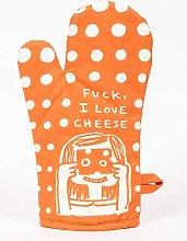 Blue Q Oven Mitt - Fuck, I Love Cheese