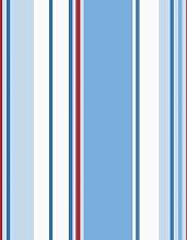 Blue / Red / White - 10666 - Poppins Stripe - Kids