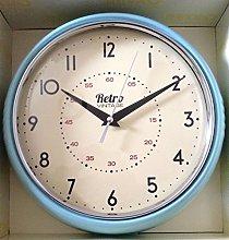 Blue Retro Style Kitchen Wall Clock