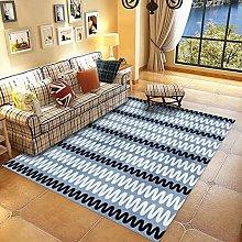 Blue ripple Fluffy Rug for the Bedroom, Living