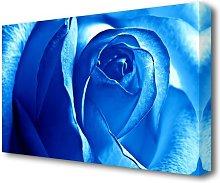 Blue Rose Flowers Canvas Print Wall Art East Urban