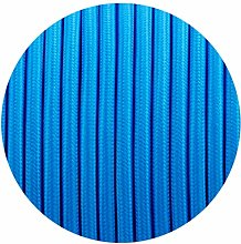 Blue Round Fabric Flex 3 Core Braided Cloth Cable