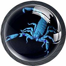 Blue Scorpion Crystal Drawer Handles Furniture
