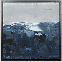 Blue Seas - Framed Canvas Print & Mount, 84.5 x