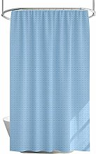 Blue Shower Curtain with Weighted Hem – Mildew