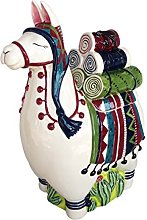 Blue Sky Ceramic Llama Cookie Jar, Multicolor