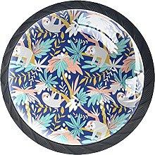 Blue Sloth Knobs for Dresser Drawers Decorative