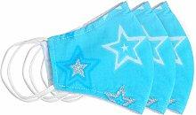 Blue Sparkle Silver Glitter Star Cloth Fabric