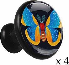 Blue Star Nebula Alloy Cabinet Knobs Round4