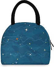 Blue Stars Lunch Bag Cooler Bag Insulated Lunch