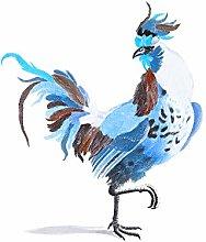 Blue Style Cock By Johan Teyler Art Print Canvas