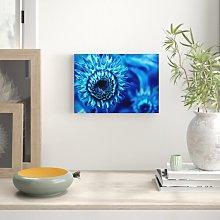Blue Sunflower Flowers Canvas Print Wall Art East