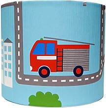 Blue Transport Lampshade for Ceiling Light Shade
