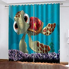 Blue Turtle Thermal Blackout Curtain 183 (W) x 214