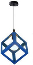 Blue Unique Geometric Cube Pendant Light E27
