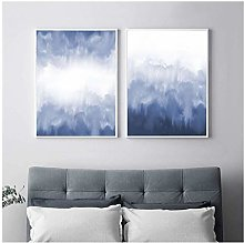 Blue Watercolor Abstract Painting Print Posters