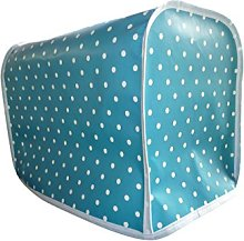 Blue & White Polka Dot Oilcloth PVC Kenwood Chef