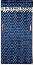 Blue Winter Curtain 120x220cm/47.28x86.7in Single