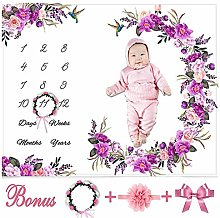 Blue-Yan Soft Background Blanket - Milestone Baby
