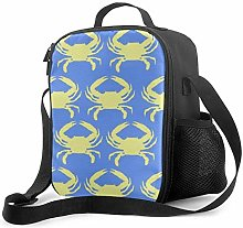 Blue Yellow Crab Upgrade Lunch Tote Box, Bee