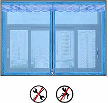 Blue Zipper Window Screen,selfadhesive Screen Mesh