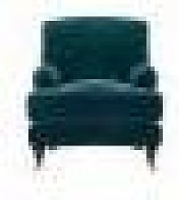 Bluebell Armchair in Deep Turquoise Cotton Matt