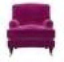 Bluebell Armchair in Peony Cotton Matt Velvet