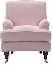 Bluebell Small Armchair in Powder Pink Brushed