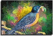 Bluebird on The Trunk Painting