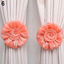 Bluelans® 2 x Lovely Rose Flower Curtain Tie
