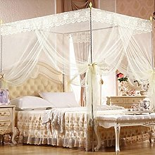 Bluelans® 4 Corner Post Bed Canopy Mosquito Net,
