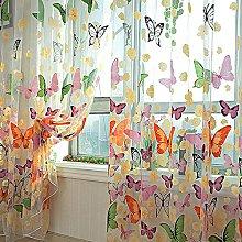Bluelans® Door Window Balcony Butterfly Print