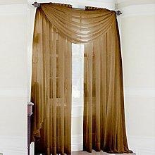 Bluelans® Woven Voile Slot Top Curtain Panel Pure