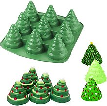 Clay Soap Silicone Christmas Tree Candle Mould for Fondant Cake Mould Abcidubxc 3D Fondant Mould Chocolate Cake Decoration