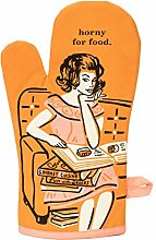 BlueQ Oven Mitt, Horny for Food, Large