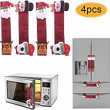 bluesees Christmas Microwave Oven Handle Cover