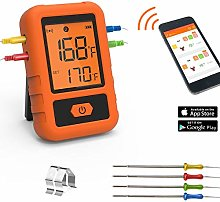 Bluetooth Meat Thermometer, 300ft Wireless Digital