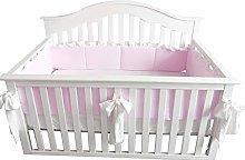 Blush Coral Pink Ruffle Crib Bedding Set Baby Girl