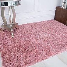 Blush Light Pink Super Soft Fluffy Shaggy Hallway