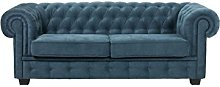 BMF Chesterfield Turquoise Quality 3 Seater Sofa