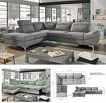 BMF Timola L - Left Facing Grey Corner Sofa Bed |