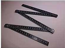 BMI 961100045S Aluminum Folding Rule 1m with