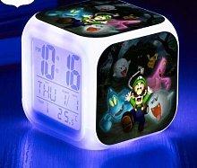 BMSYTY Alarm clock 7 color watch change digital