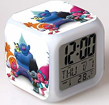 BMSYTY Alarm clock kids cartoon color changing