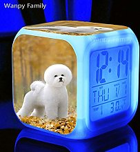 BMSYTY Cute Pet Dog Alarm Clock 7 Color Change