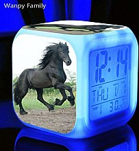 BMSYTY Horse Alarm Clocks Color Change Glowing LED
