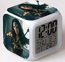 BMSYTY LED alarm clock 7 color change digital