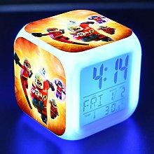 BMSYTY LED alarm clock cartoon children's toy