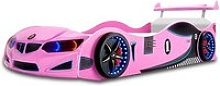 BMW GTI Childrens Car Bed In Pink With Spoiler And