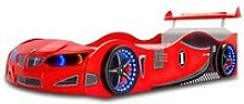 BMW GTI Childrens Car Bed In Red With Spoiler And
